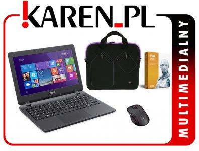 Laptop ACER ES1-131 N3700 8GB 120SSD Win10 +200zł Karen na allegro
