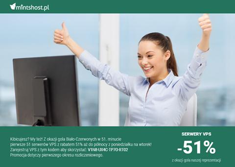 51% rabatu na rejestrację dowolnego serwera VPS @ Mintshost