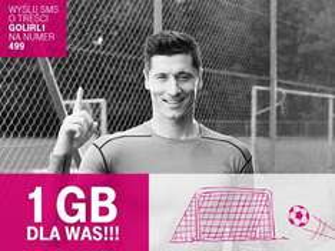 1GB internetu za darmo za każdy gol strzelony przez naszych na ME @ T-mobile
