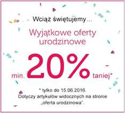 min. 20% rabatu na ofertę urodzinową @ BonPrix