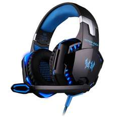 EACH G2000 Over-ear Game Gaming Headphone/Head with Mic Stereo Bass LED Light for PC,Xbox itd.