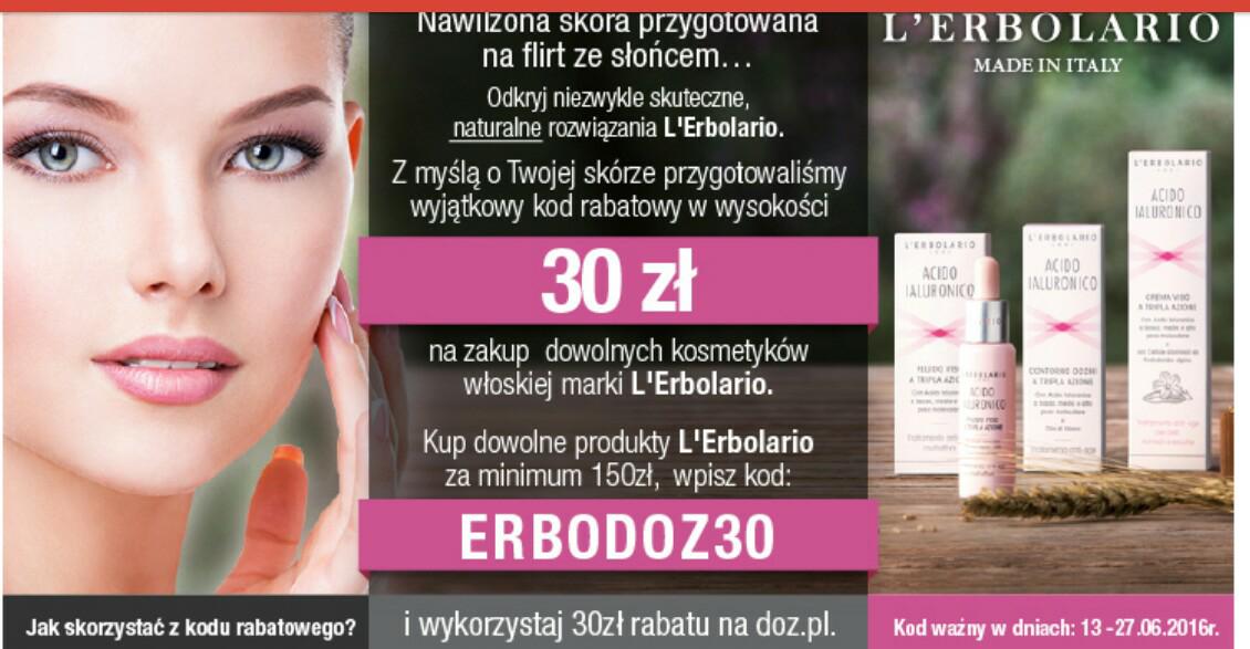 Kod rabatowy na LErbolario -30 zł MWZ150 zł @doz.pl