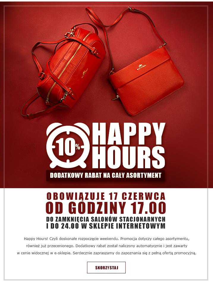 Dodatkowe -10% na cały asortyment w Wittchen - Happy Hours ;)
