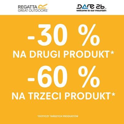 30% na drugi, 60% na trzeci produkt @ Regatta