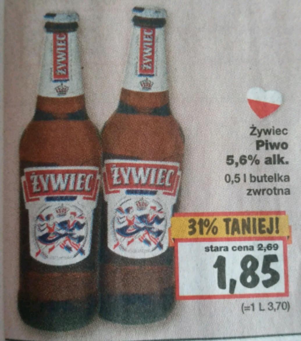 Piwo Żywiec 0.5 l za 1.85 zł
