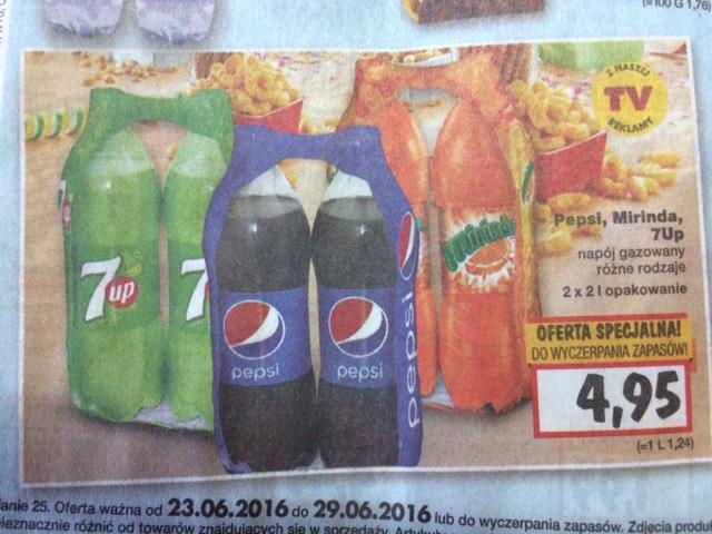 Pepsi i jej rodzeństwo - 2x2L /Kaufland 1,24zl/L