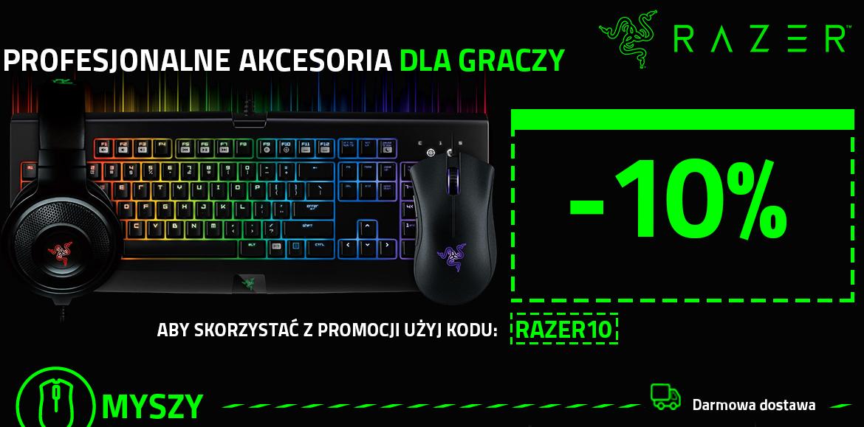 Akcesoria dla graczy Razer 10% taniej @ Morele