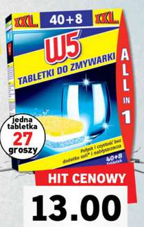 Tabletki do zmywarek W5 All in One 48szt. za 13zł @ Lidl