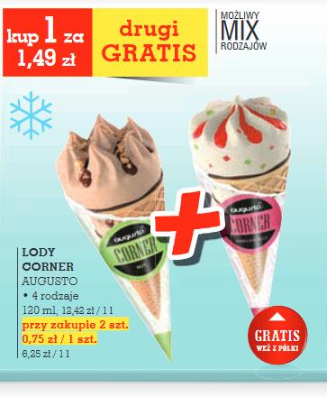 Lody Corner od Augusto 1+ 1gratis @ Intermarche