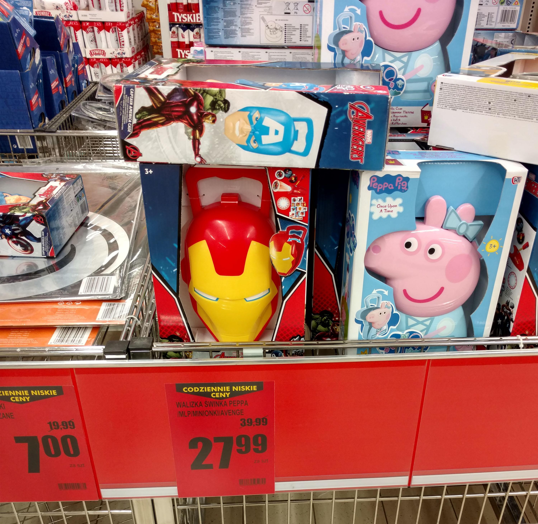 Walizka: Świnka Peppa, Minionki, Avengers za 27,99zł @ Biedronka