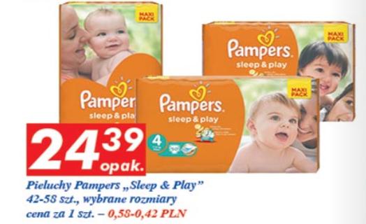 Pieluszki Pampers Sleep&Play za 24,39zł @ Auchan