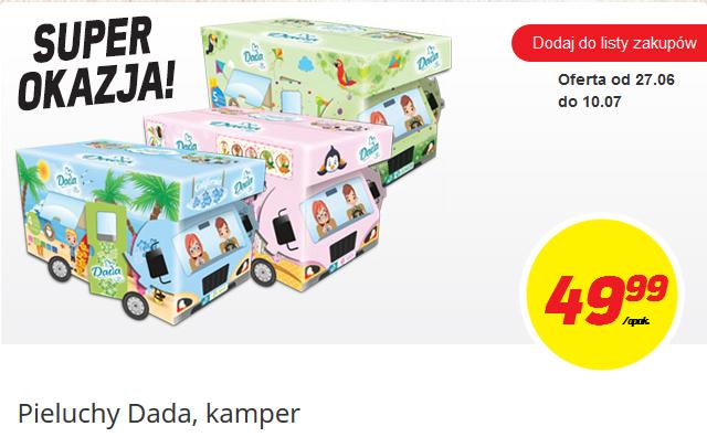 Pieluszki Dada Extra Soft za 49,99zł + gadżet do zabawy @ Biedronka