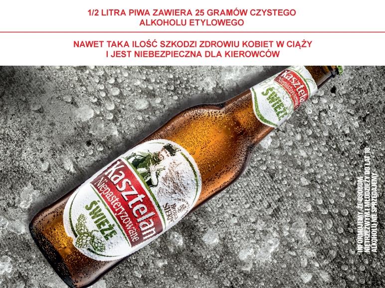 Piwo Kasztelan Niepasteryzowane, butelka 660ml