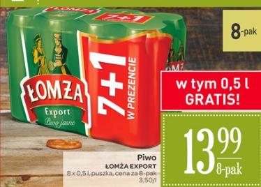 8-pak piwa Łomża Export za 13,99zł (1,75zł za puszkę) @ Carrefour