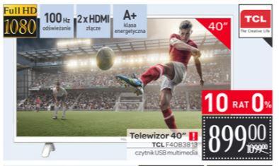 "Telewizor TCL 40"" LED  F40B3813 (1080p), możliwe 849zł @ Carrefour"