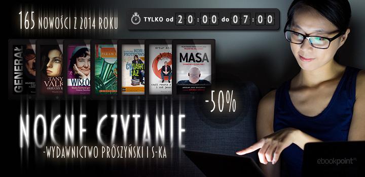 NOCNE CZYTANIE! -50% na nowości wydawnictwa Prószyński i S-ka (Orson Scott Card, Terry Pratchett i inni)  @ ebookpoint
