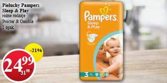 Pieluszki Pampers Sleep&Play za 24,99zł @ POLO Market