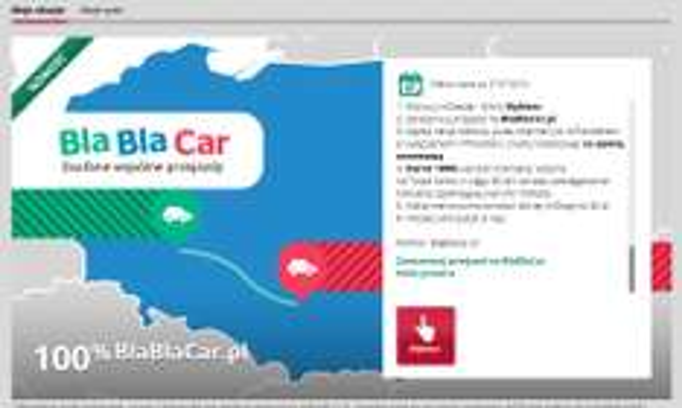 mBank zwraca opłatę za rezerwacje w BlaBlaCar