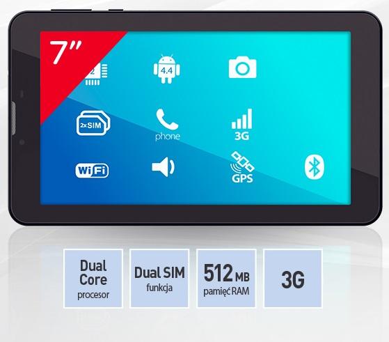 Manta MID713D (dual-core, 3G, dual-sim) za 99,99zł @ Carrefour
