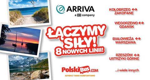 Polskibus.com: 8 nowych linii, 19 nowych miast. Bilety od 1 PLN!