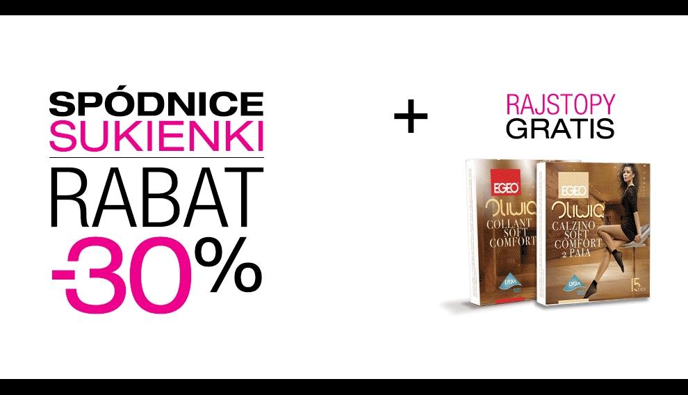 Promocja -30% na spodniczki i sukienki + rajstopy gratis @ Butik