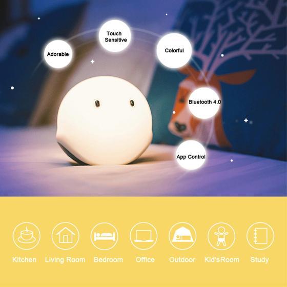 """Wielofunkcyjna lampka """"EMIE Elfy Touch """" Bluetooth 4.0"""