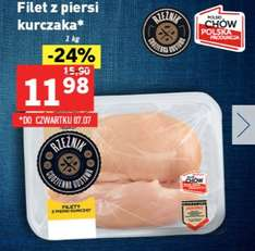 Filet z piersi kurczaka za 11,98zł/kg, 6 puszek piwa Harnaś za 9,99zł @ Lidl
