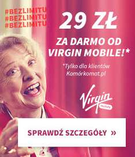 Doładowanie 29 zł GRATIS w Virgin Mobile #BezLimitu i Komórkomat.pl - przedłużenie promocji