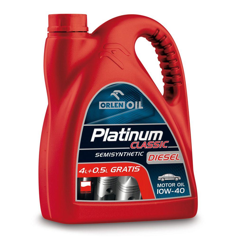 Olej Platinum 10W-40 4L + 0,5 gratis DIESEL ( Auchan Rybnik )