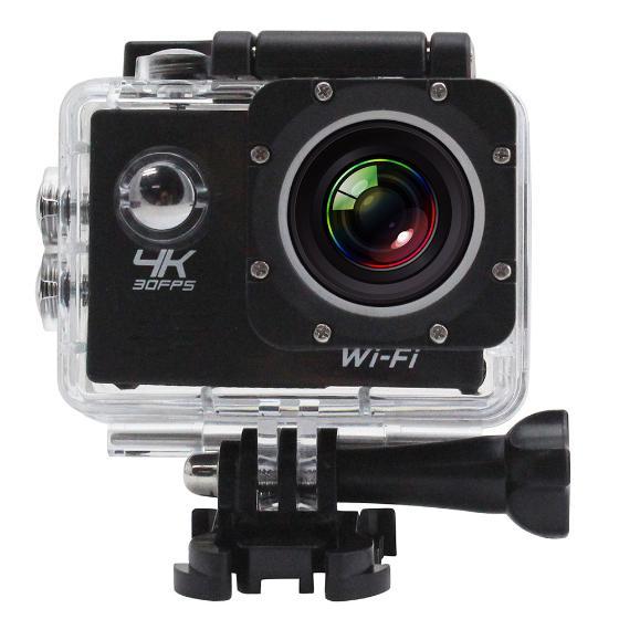 Kamera sportowa 4K-30fps, 1080p-60, z ekranemi, Wi-Fi + akcesoria