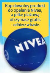 Piłka plażowa GRATIS przy zakupie kosmetyku do opalania Nivea @ Rossmann