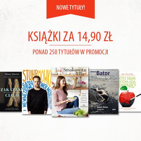 Książki po 14,90zł (ponad 250 tytułów w promocji) @ Znak