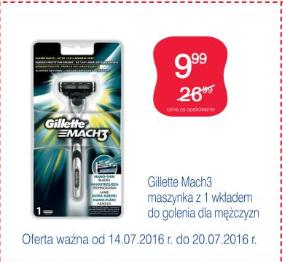 Maszynka do golenia Gillette Mach3 + 1 wkład @ Super-Pharm
