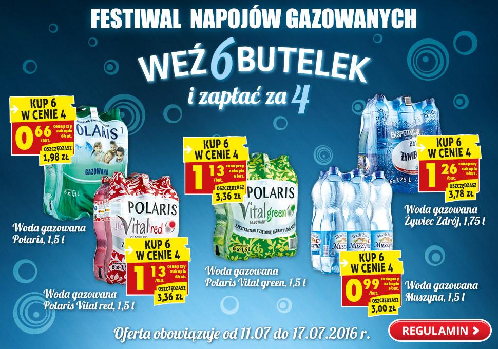 Festiwal napojów gazowanych (6 butelek w cenie 4) @ Biedronka