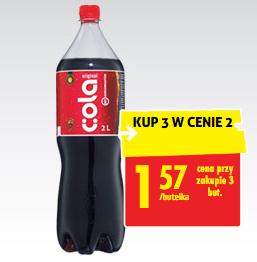 #Biedronka: Cola Original za 1,57zł przy zakupie 3 sztuk