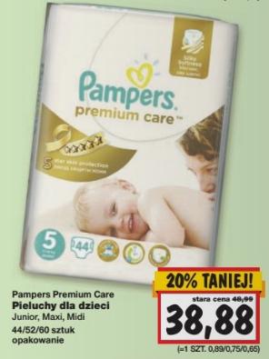 Pieluszki Pampers Premium Care za 38,88zł @ Kaufland