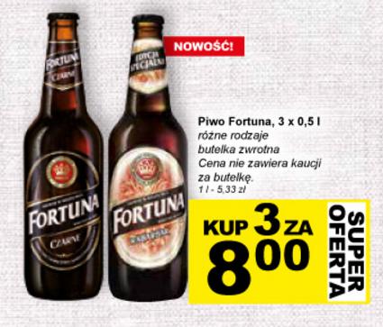 Piwo Fortuna 3 x 0,5l za 8zł @ Żabka