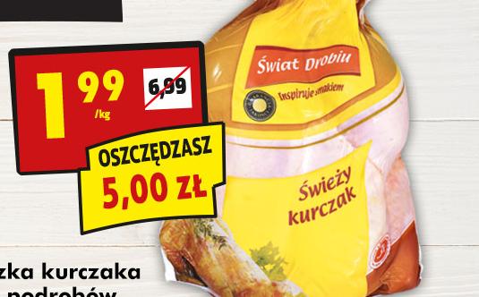 Kurczak za 1,99/kg przy zakupach za min. 99PLN @ Biedronka