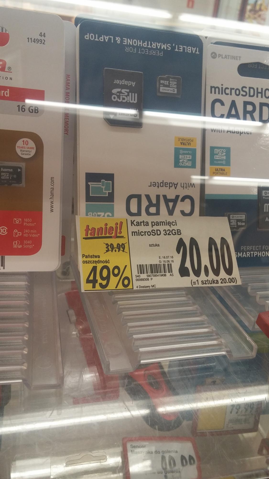 Karta MicroSD Platinet 32GB Class 10