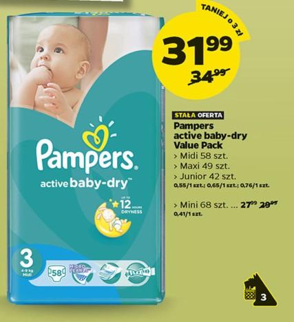 Pieluszki Pampers Active Baby od 27,99zł @ Netto