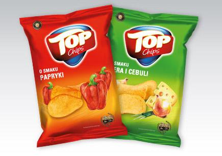 Chipsy Top Chips 200g - 2 za 3,98zł @ Biedronka