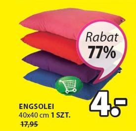Kolorowe poduszki po 4zł (-77%) @ Jysk