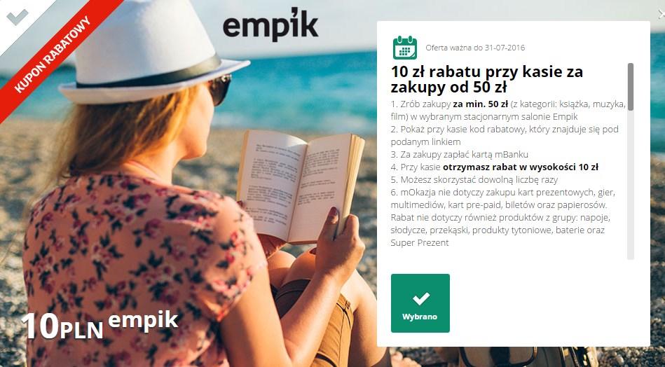 -10 zł w Empiku na książki/muzykę/film, MWZ 50zł @ Empik