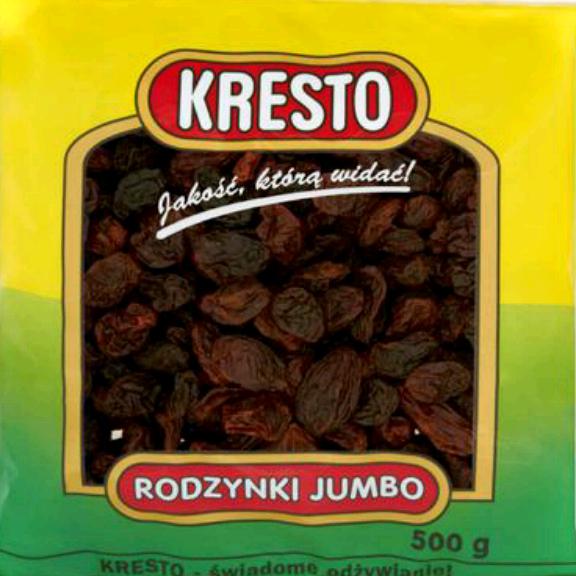 Rodzynki Jumbo Kresto 500g 3,03 zł