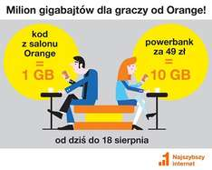 Orange 1GB Internetu za darmo!