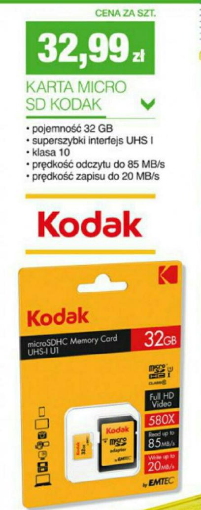 Karta micro sd Kodak 32GB w Biedronce