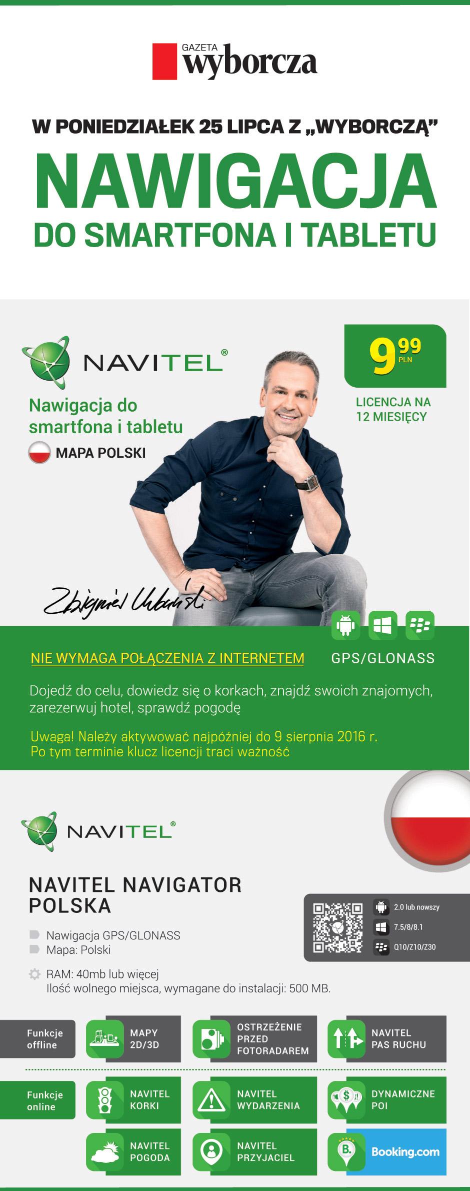 Nawigacja Navitel Navigator Polska - licencja na 12 miesięcy za 9,99PLN @ GW