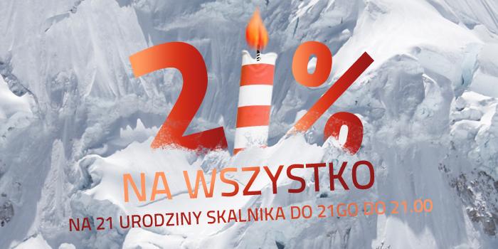 21% RABATU na wszystko @ Skalnik