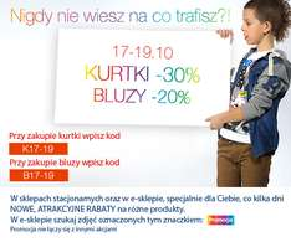 3 dni promocji na kurtki -30% i bluzy -20% @ Reporter Young