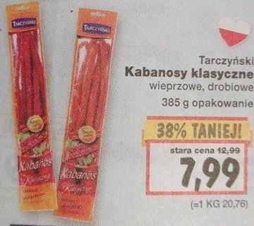 Kabanosy klasyczne Tarczyński 385 g za 7,99 w Kauflandzie